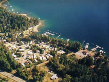 Sproat Lake Mobile Home Park - arial view